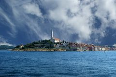View of the old city Rovinj in Croatia Stock Photo