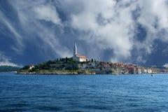 View of the old city Rovinj in Croatia Stock Photo