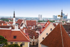View of Old city's roofs. Tallinn. Estonia Royalty Free Stock Photos