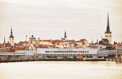View of old city from the ship. Stock Photography