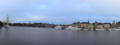 View of the Old city, Stockholm. View of the Old city and embankment, Stockholm, Sweden stock photos
