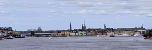 View of the Old city, Stockholm. View of the Old city and embankment, Stockholm, Sweden stock image