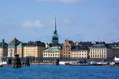 View of the Old city, Stockholm. View of the Old city and embankment, Stockholm, Sweden royalty free stock photography