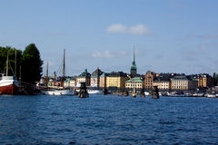 View of the Old city, Stockholm Royalty Free Stock Photography