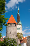 View on the Old City of Tallin Royalty Free Stock Photos