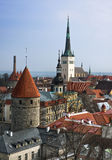 View on Old city of Tallinn Royalty Free Stock Photo