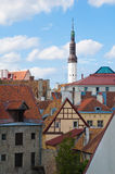 View on old city of Tallinn. Royalty Free Stock Images