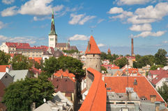 View on old city of Tallinn. Stock Photo