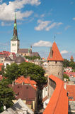 View on old city of Tallinn. Stock Images