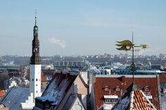 View of an old city in Tallinn Stock Image