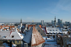 View of an old city in Tallinn Stock Photography