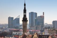 View on Old city of Tallinn. Estonia Royalty Free Stock Photos