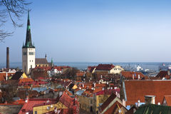 View on Old city of Tallinn. Estonia Royalty Free Stock Photo
