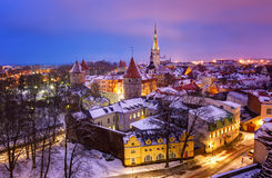 View of an old city in Tallinn Royalty Free Stock Images