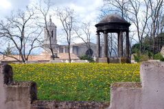 View from the old city wall of Girona Royalty Free Stock Photography