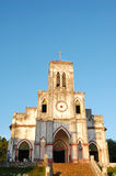 View of old colonial church in Mekong Delta Royalty Free Stock Images