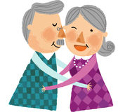 The view of old couple Royalty Free Stock Photography
