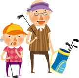 The view of old couple Royalty Free Stock Images
