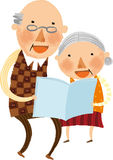 The view of old couple Stock Photography
