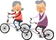 The view of old couple Stock Images