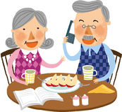 The view of old couple Royalty Free Stock Photo