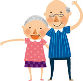 The view of old couple Royalty Free Stock Image