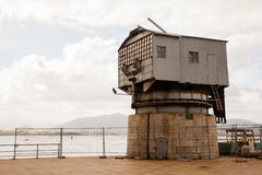 View of the old crane, Santander Stock Photography