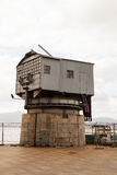 View of the old crane, Santander Royalty Free Stock Photography