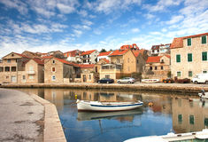 View of old croatian town Stock Photos