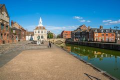 View of the old custom house at King`s Lynn, Norfolk Stock Image