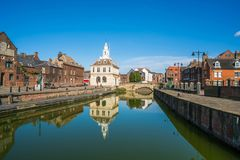 View of the old custom house at King`s Lynn, Norfolk Royalty Free Stock Images
