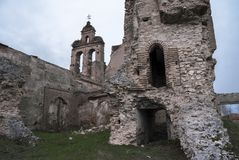 View a old destroyed church. Spain Royalty Free Stock Image