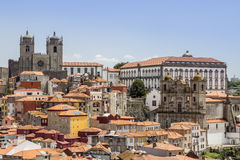 View of old downtown and city Castle, UNESCO World Heritage Site Royalty Free Stock Images
