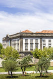View of old downtown and renovated Lisboa square, Porto cityscape Royalty Free Stock Image