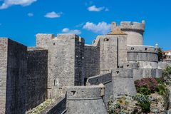 Dubrovnik walls. View of old Dubrovnik city walls Stock Photo