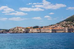 Dubrovnik walls. View of old Dubrovnik city walls Royalty Free Stock Photos