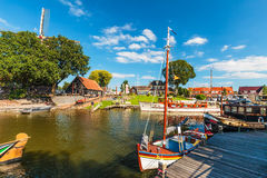 View at the old Dutch harbor of Harderwijk Stock Images