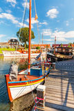 View at the old Dutch harbor of Harderwijk Royalty Free Stock Image