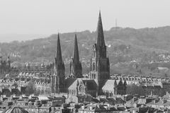 View on old edinburgh Royalty Free Stock Images