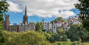 View of old Edinburgh Royalty Free Stock Photo