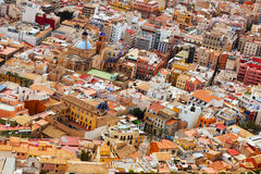 View of old european city. Alicante Stock Photo
