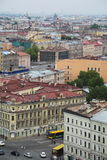 View of old European city from height of bird's flight. Saint Petersburg, Russia, Northern Europe. Royalty Free Stock Image