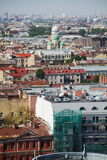 View of old European city from height of bird's flight. Saint Petersburg, Russia, Northern Europe. Stock Image