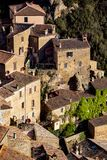 Tuff city of Sorano. View at the old famous town of tuff Sorano, province of Siena. Tuscany, Italy Stock Photo