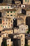 Sorano. View at the old famous tuff city of Sorano, province of Siena. Tuscany, Italy Stock Image