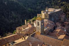 View of sorano Royalty Free Stock Photography