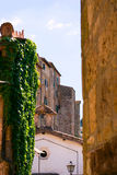 View at the old famous tuff city of Sorano Royalty Free Stock Photos