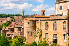 View at the old famous tuff city of Sorano Royalty Free Stock Image