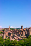View at the old famous tuff city of Sorano Royalty Free Stock Photo