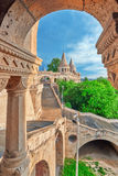 View on the Old Fisherman Bastion in Budapest. Arch Gallery Stock Photography